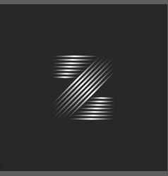 monogram letter z logo initial creative symbol vector image