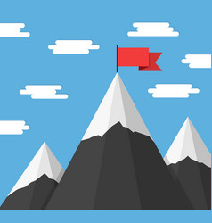 mountains with flags vector image