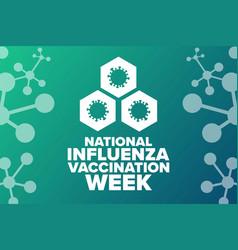 National influenza vaccination week holiday vector