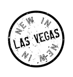 New in las vegas rubber stamp vector