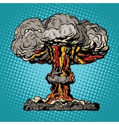 nuclear explosion radioactive mushroom pop art vector image