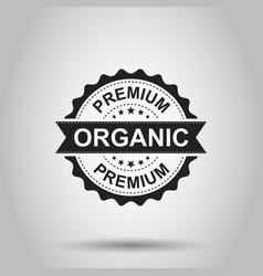 Premium organic grunge rubber stamp on white vector