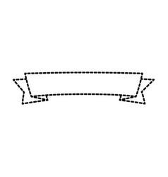 ribbon decorative frame icon vector image