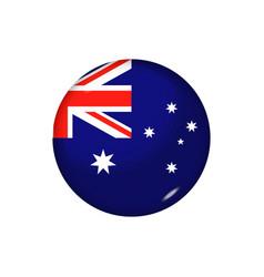 Round flag australia button vector