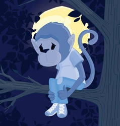 sad monkey vector image