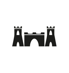 sand castle icon vector image