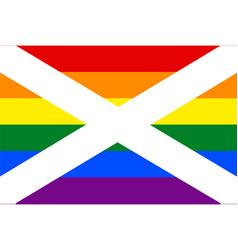 Scottish gay flag or lgbt vector