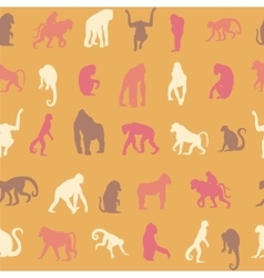 Seamless pattern background with monkeys vector