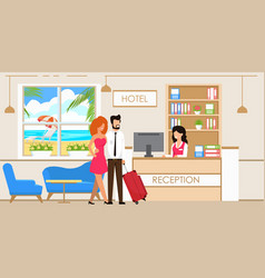 service at hotel reception vector image