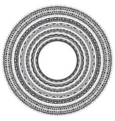 Set of grey round geometrical frames circle vector