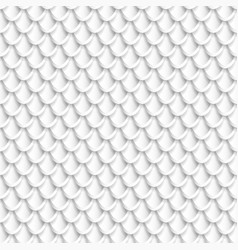 Silver fish scales seamless pattern vector