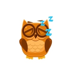sleeping brown owl vector image