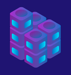 speaker box icon isometric style vector image