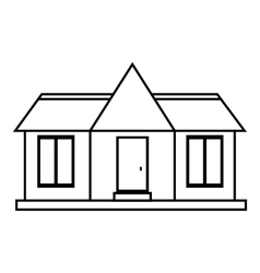 Suburb house icon outline style vector