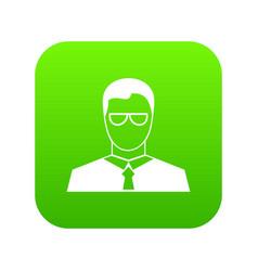 teacher icon digital green vector image