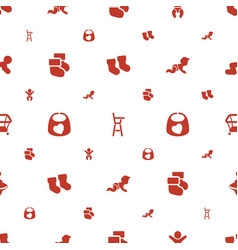 toddler icons pattern seamless white background vector image