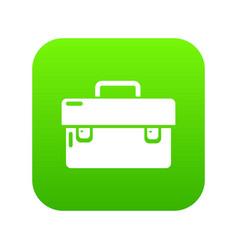 Tool box icon green vector