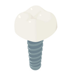 Tooth implant icon isometric style vector