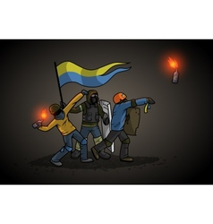 Ukrainian Revolution vector image