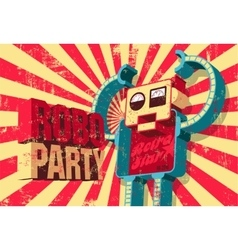 Vintage grunge poster for Roboparty vector