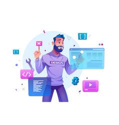 web development programmer engineering website vector image