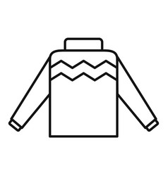 Winter pullover icon outline style vector