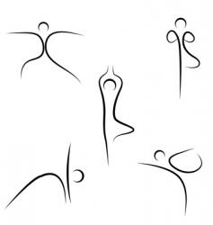 yoga sketch vector image