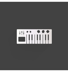 digital piano synthesizer icon vector image