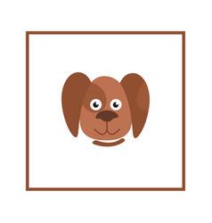 dog head sign domestic animal cartoon puppy icon vector image