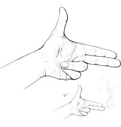 fingers shoot vector image vector image