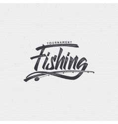 Fishing badges sign handmade differences made vector image