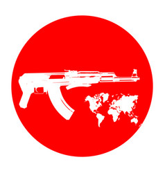 machine on a red background terrorists and a ban vector image