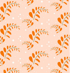 orange leaf pattern style format vector image vector image