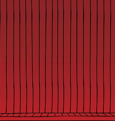 red curtain cartoon vector image
