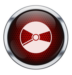 Red honeycomb music cd icon vector image