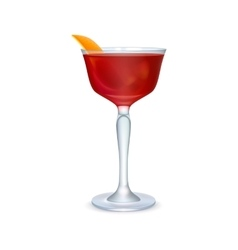 Red realistic cocktail vector image vector image