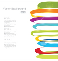 White background with color ribbons vector image vector image