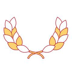 wreath leafs crown award vector image
