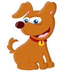 Cartoon adorable dog sitting vector image vector image