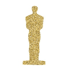 Golden statue glitter icon vector image
