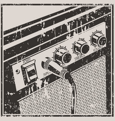 guitar amplifier retro style vector image vector image