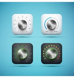 knob icons set vector image