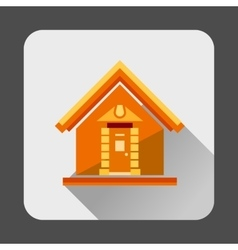 Small house icon flat style vector image vector image