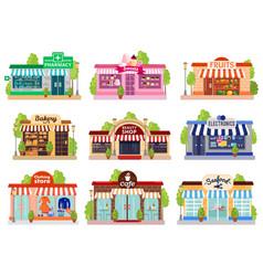 store facades set vector image vector image