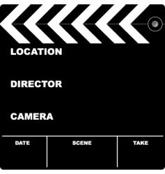 film clapper vector image vector image