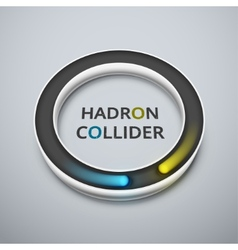 Hadron collider vector image vector image