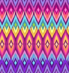 rainbow ikat pattern vector image vector image