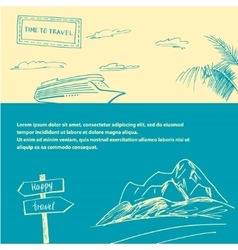 Set of banners on the subject of travel and vector image