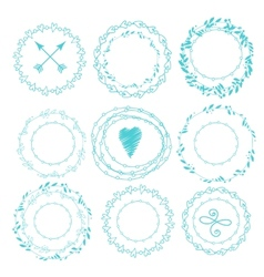 Set of hipster vintage design elements vector image vector image
