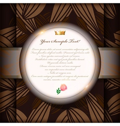 Vintage invitation card or background art vector image vector image